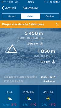 Copie écran Application Météo Ski_article