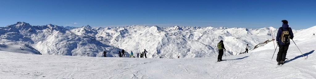Panorama ski montagne