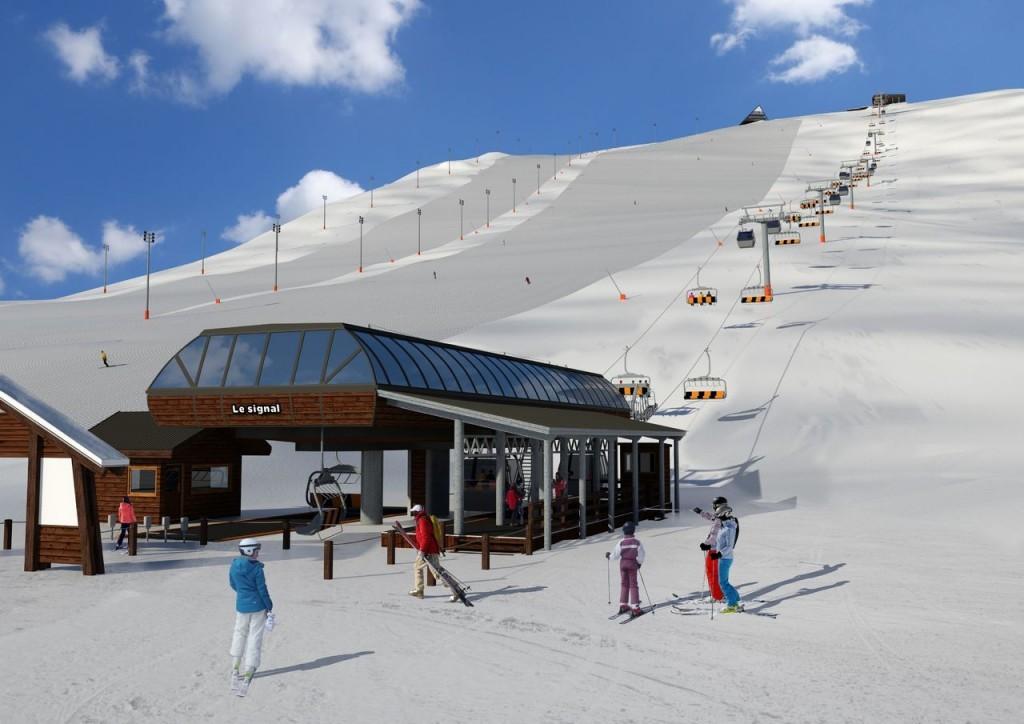 remontée mécanique ski telemix-en-Alpe-dHuez
