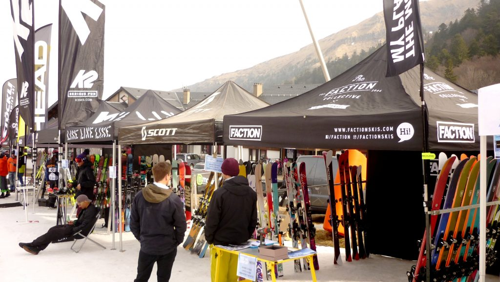 Stands ski Faction, Scott, Line - Derby du Mont Dore 2017