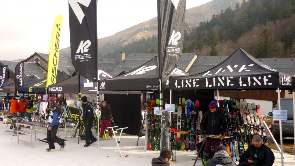 Stands ski Line, K2, Head, Blizzard, Fischer - Derby du Mont Dore 2017