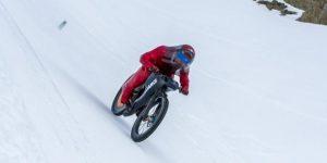 Record vitesse velo sur neige