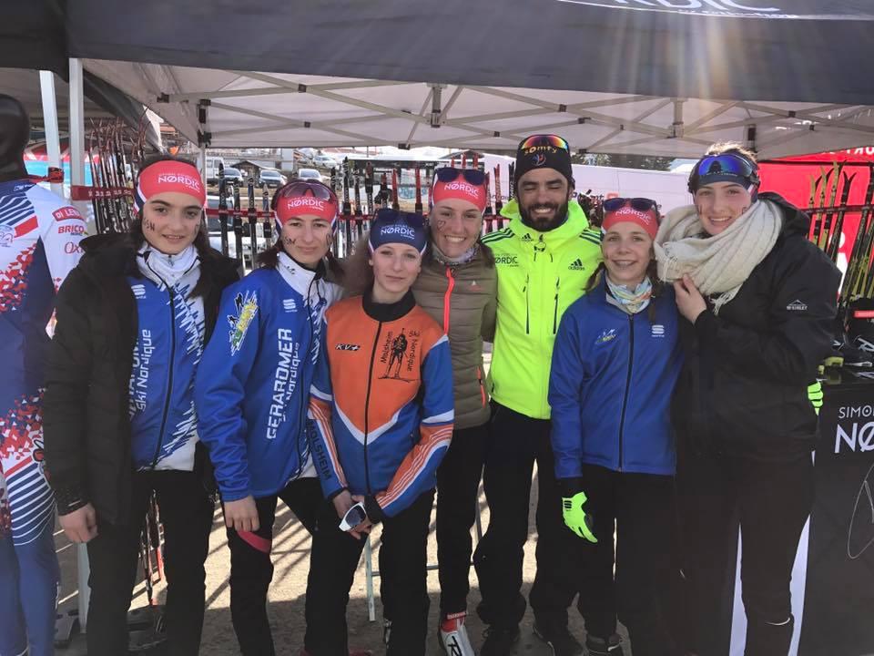 Simon Fourcade Ski nordique Les Saisies 2017