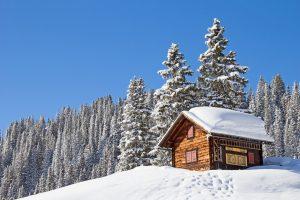 Refuge neige sport d'hiver