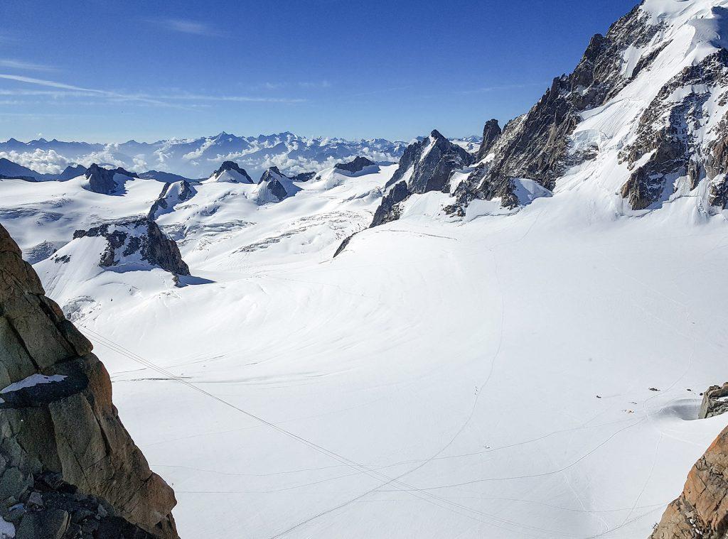 Traversée allée Blanche en été - Mont Blanc