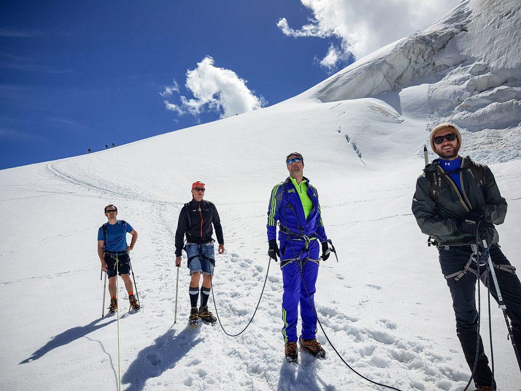 Cordée glacier Mont Blanc