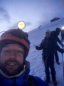 Départ lampe frontale Mont Blanc