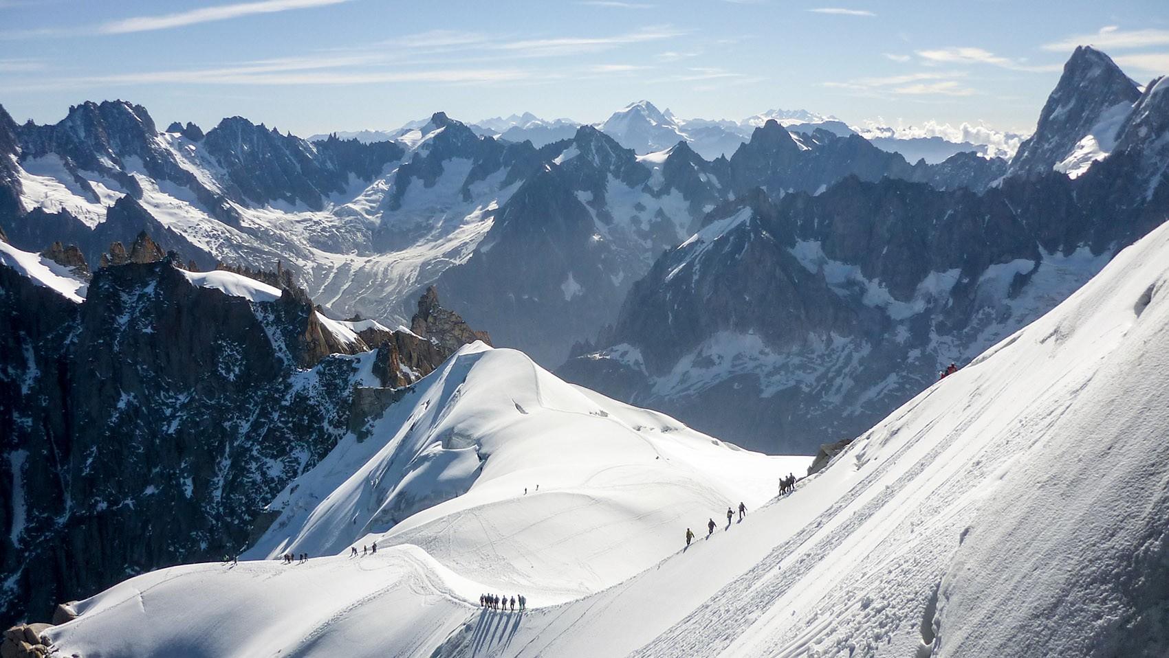 Arête finale Aiguille du Midi