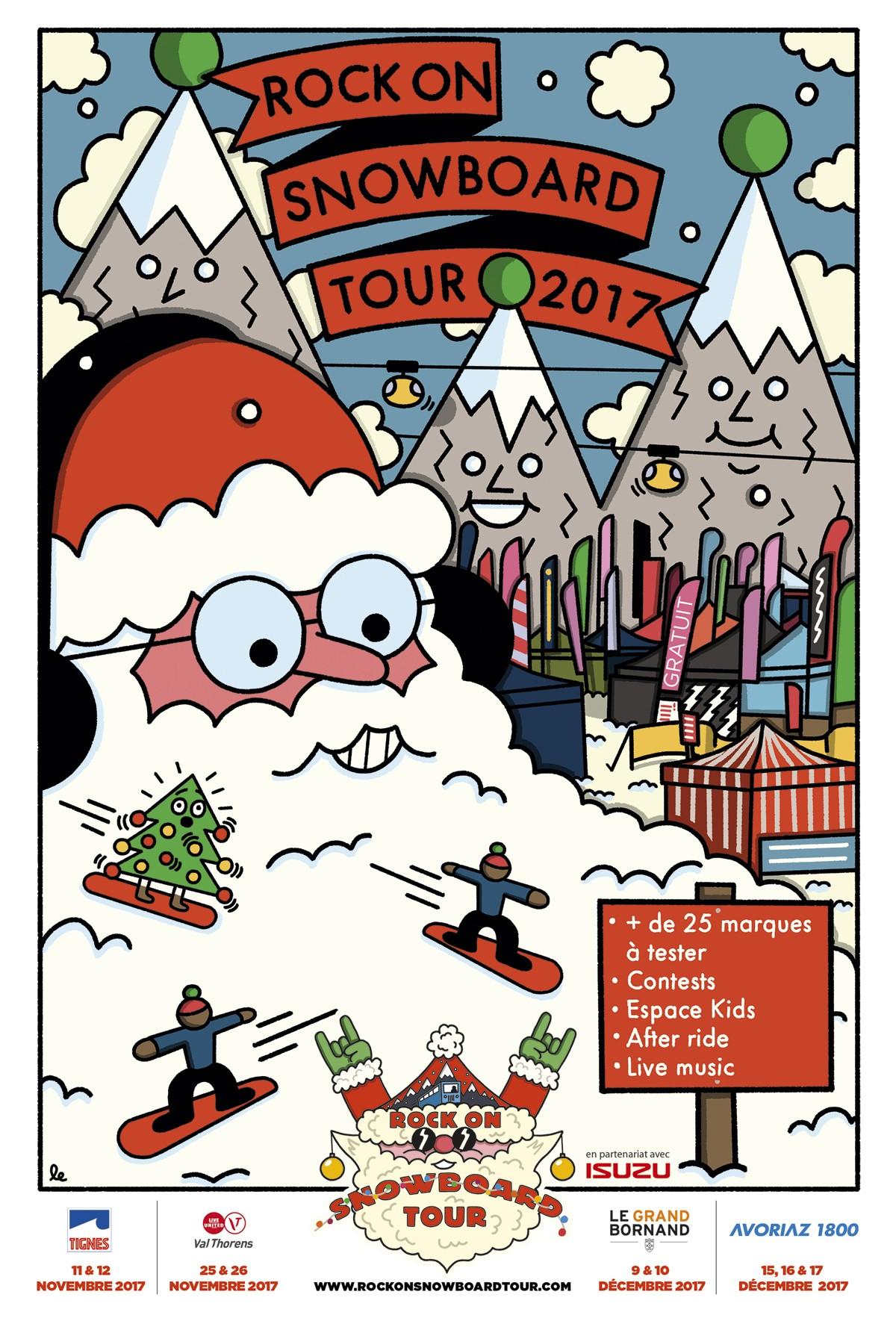 Affiche du Rock On Snowboard Tour 2017