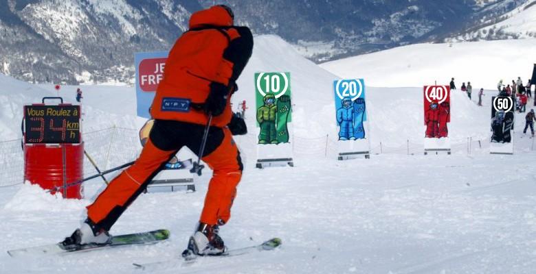limite vitesse piste ski