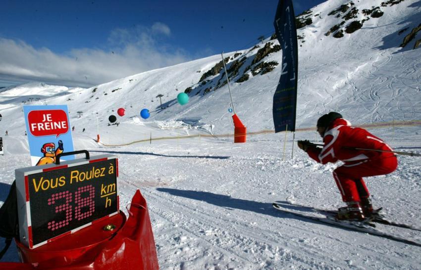 radar vitesse ski