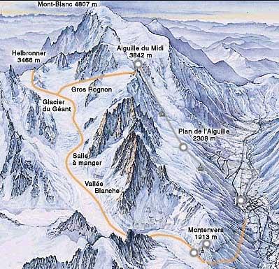 plan vallée blanche