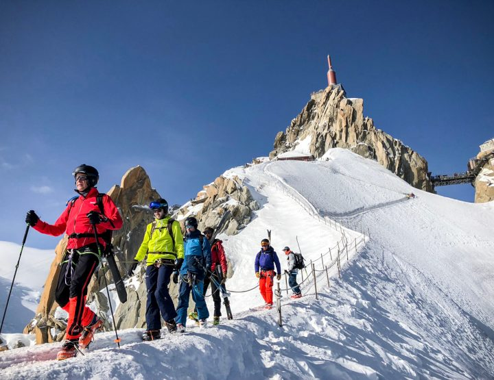 Descente mythique de la Vallée Blanche au cœur du massif du Mont Blanc