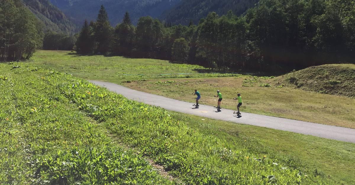 nouvelle piste ski roue contamines