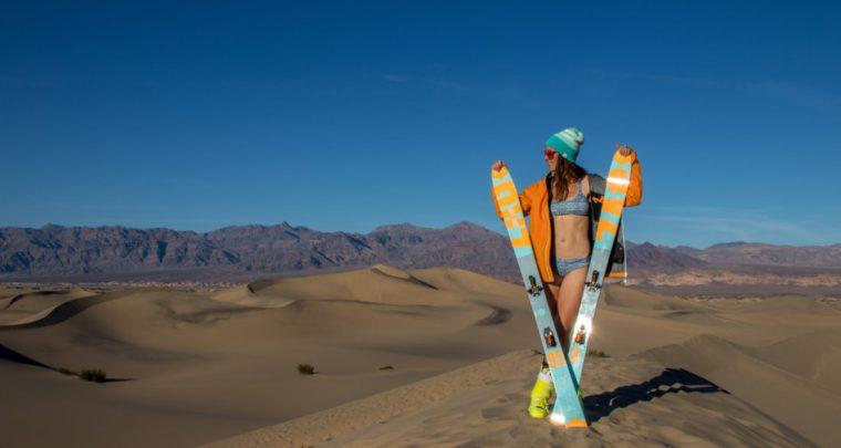 Skier sur le sable en attendant le retour de la neige