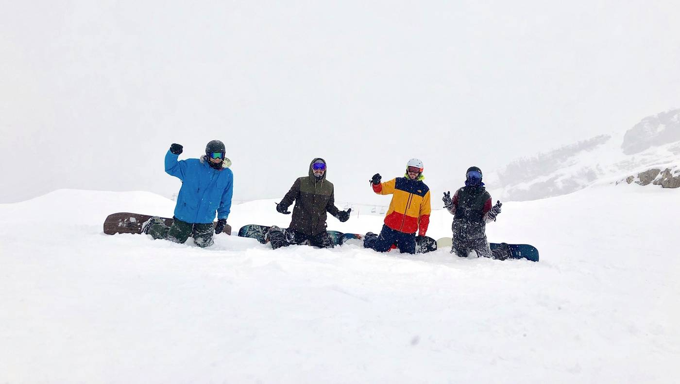 team Glisshop snow test 2019