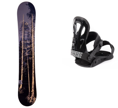 Pack snowboard Apo Blend Fix GT Black Drake