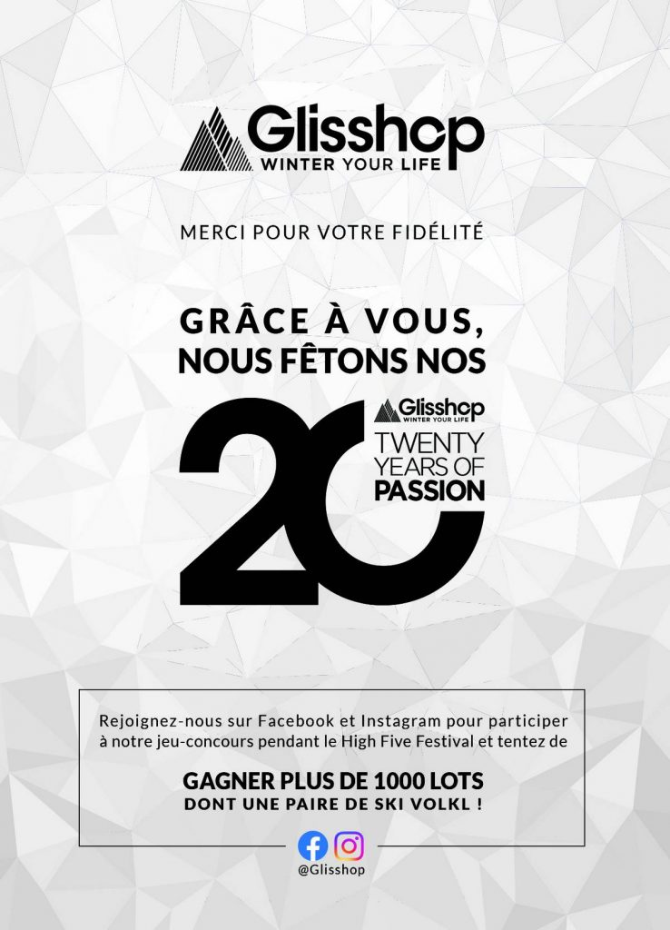 20 ans Glisshop High Five