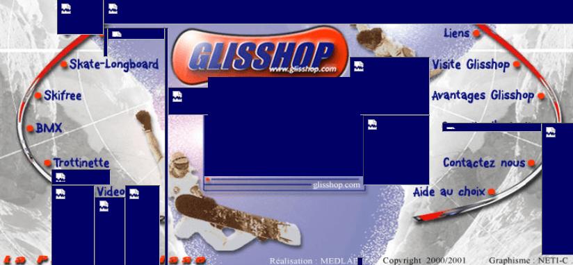 Premier site web Glisshop