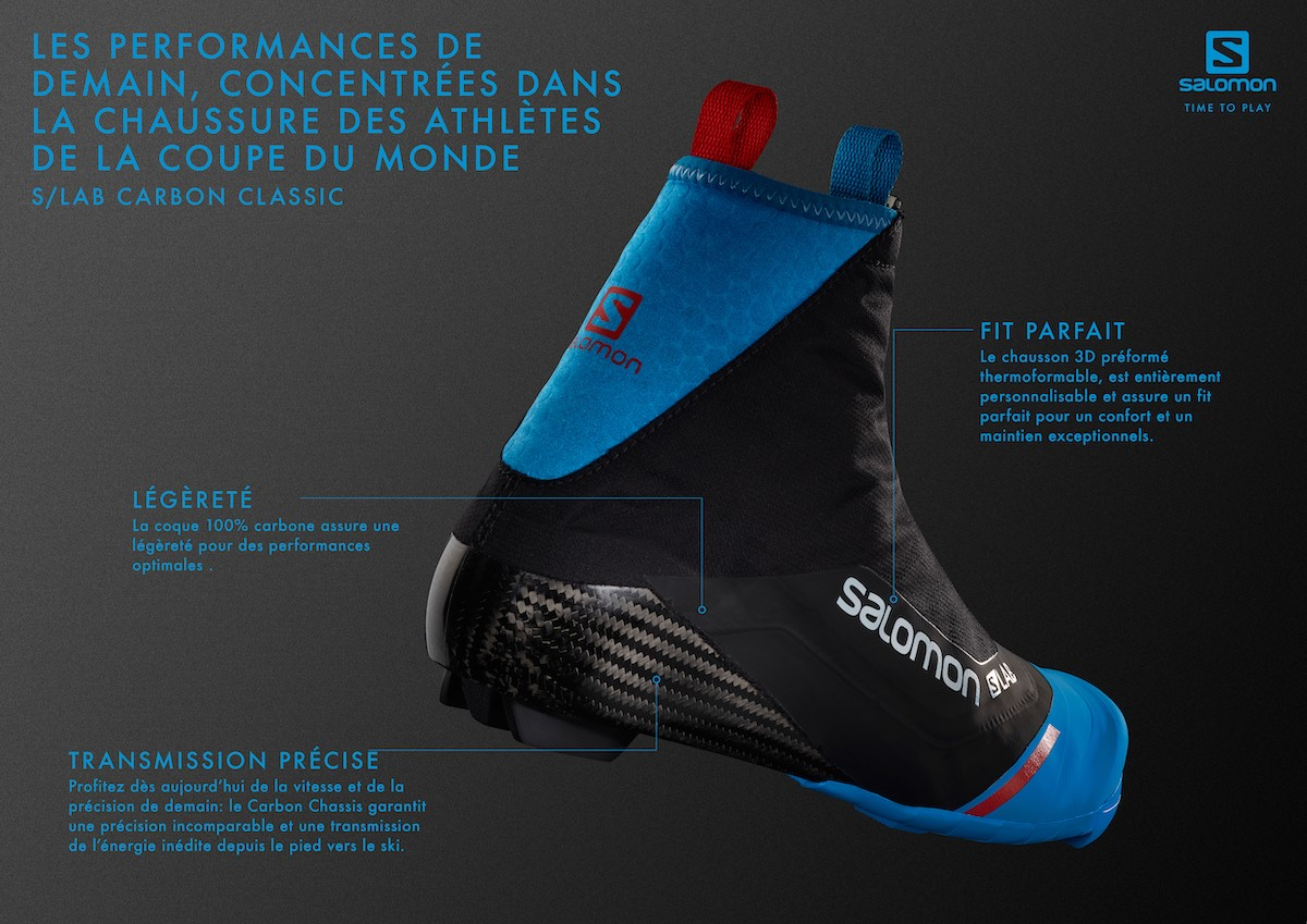 ski nordique salomon 2019 chaussure s lab carbon classic technologie