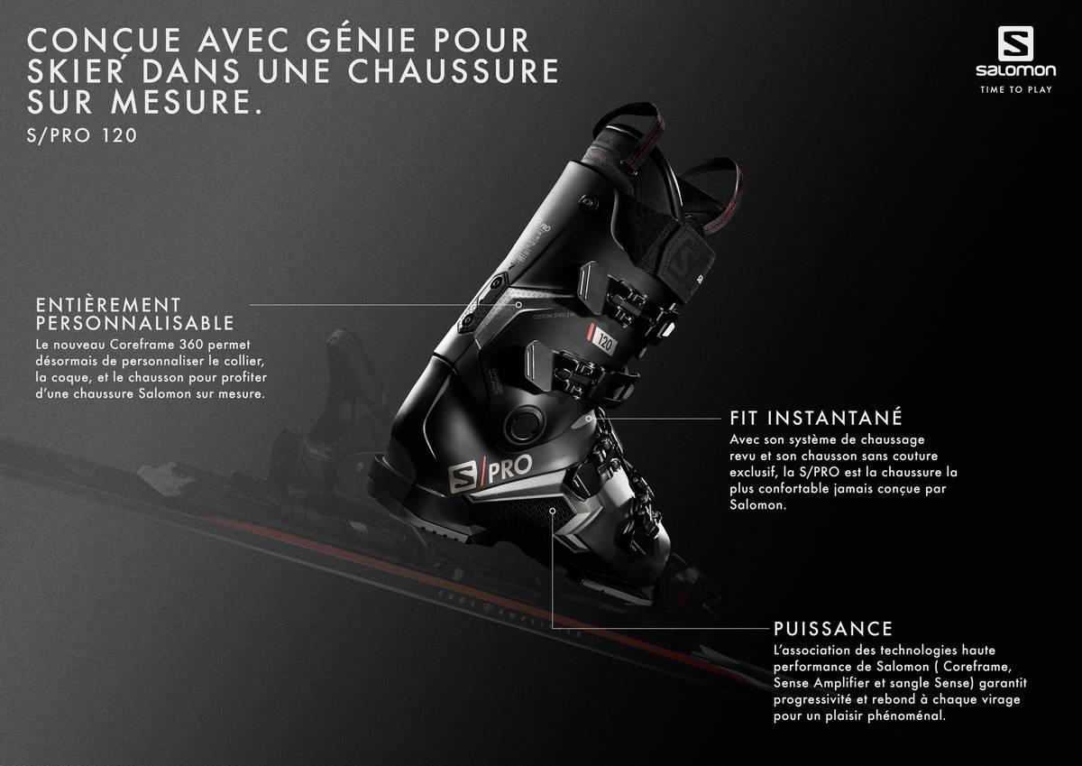 technologies de la chaussure de ski Salomon S/Pro 120