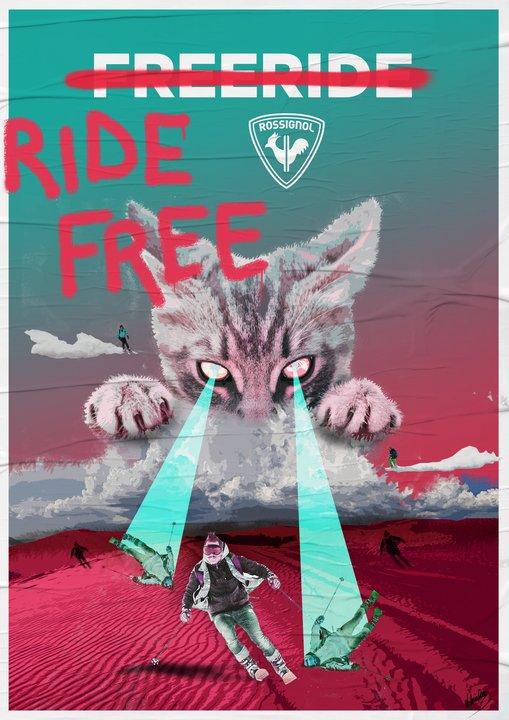 Ride Free avec les skis Black Ops