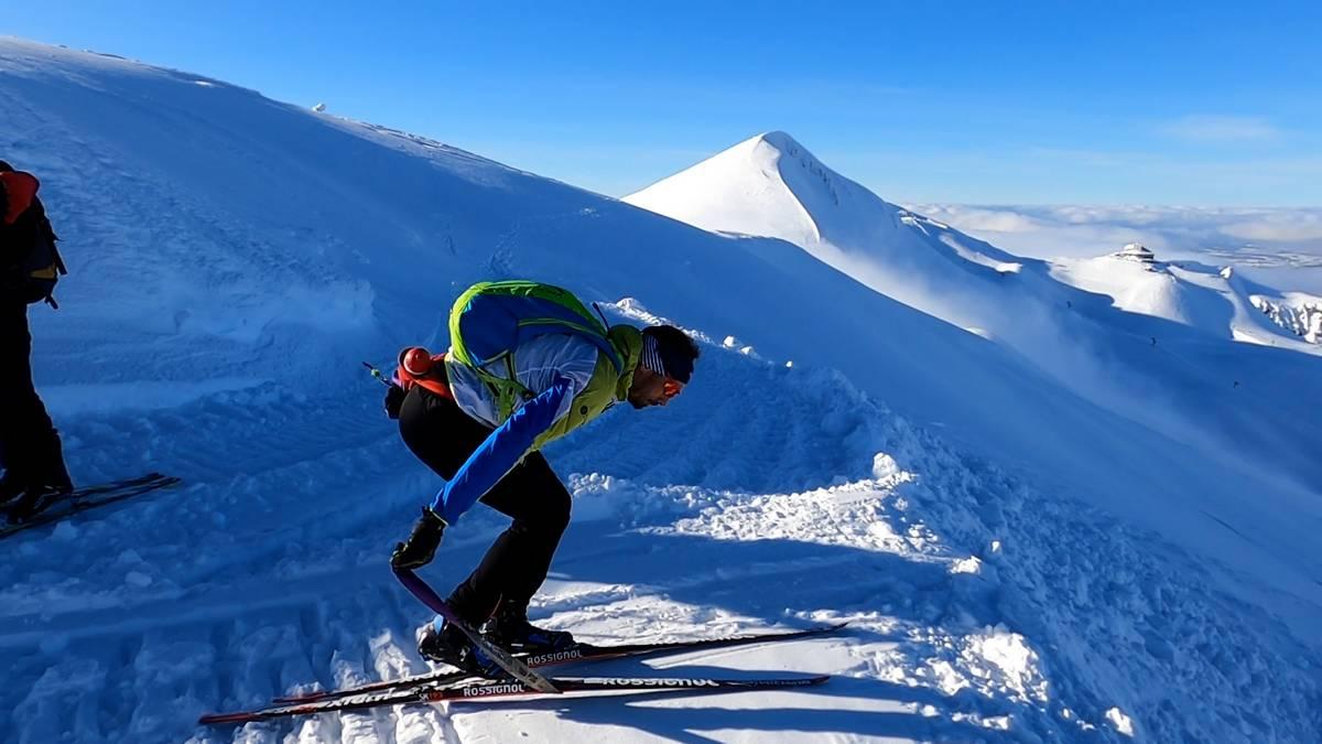 avant la descente en ski de fond