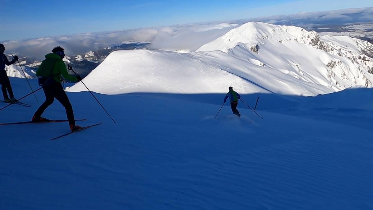 descente alpin en ski de fond