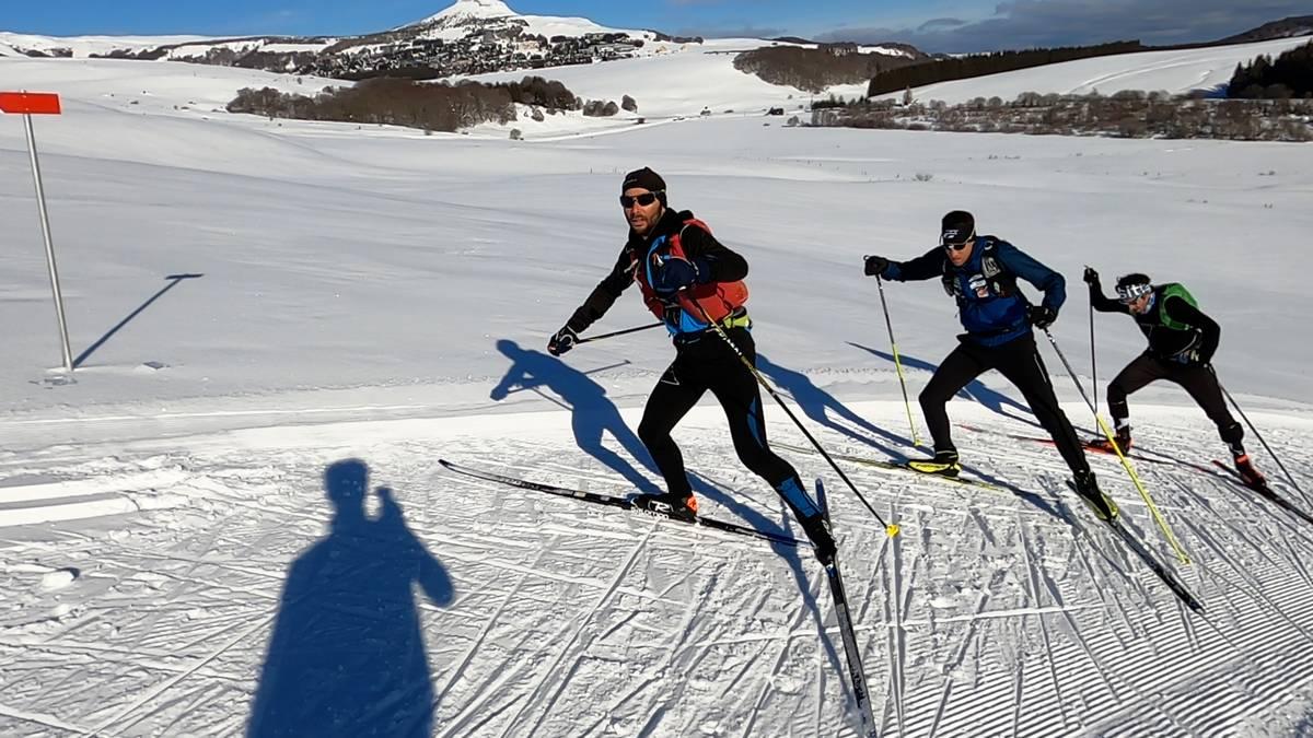 montée en ski de fond