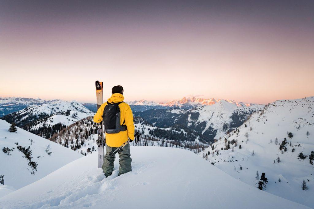 profiter de la vue en ski de randonnée