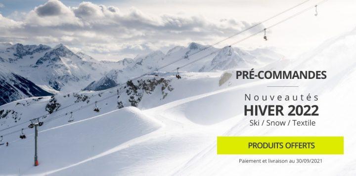 Lancement des précommandes pour les nouveautés hiver 2021/2022